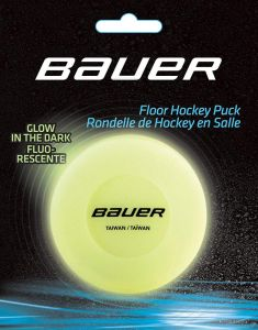 Bauer FLOOR Glow in the Dark (carded) Riedučių ritulio ritulys
